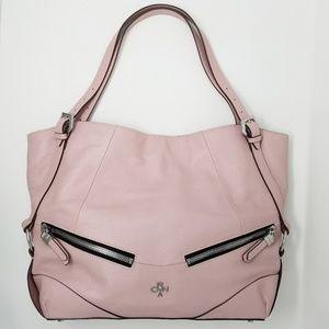 Oryany Blush Pink Leather Shoulder Bag, Purse